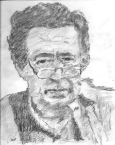 Mordecai Richler (dessiné par Jburlinson, commons.wikimedia.org) est l'auteur d'une douzaine de romans, dont The Apprenticeship of Duddy Kravitz (1959), Solomon Gursky (1989), Barney's Version (1997), de plusieurs essais et de la série pour enfants Jacob Two-Two.