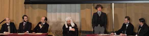 Des acteurs du Théâtre Dérives Urbaines ont revisité le débat historique de 1865.
