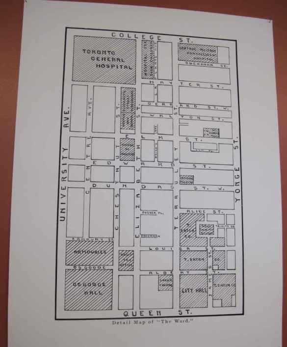 Plan du quartier Ward.
