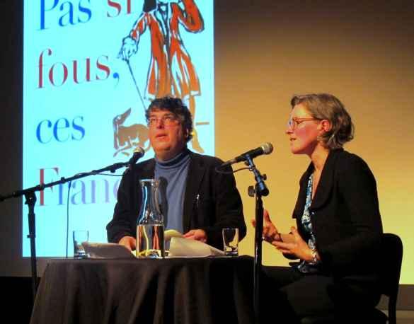 Jean-Benoît Nadeau et Julie Barlow à l'AFT le 22 mars.