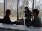 Des étudiants s'adonnent au Journalisme Mobile.