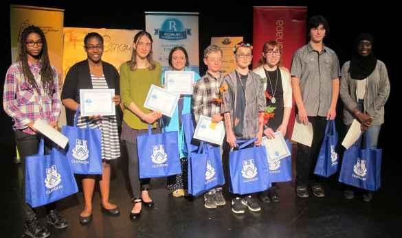 Les finalistes du 43e concours d'Art oratoire du Club Richelieu.