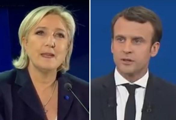 Marine Le Pen, Emmanuel Macron.