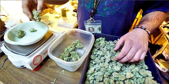 Un comptoir de cannabis au Colorado.