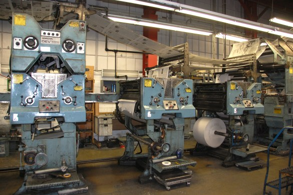 Les presses de L'Express dans le quartier Leslieville de Toronto.