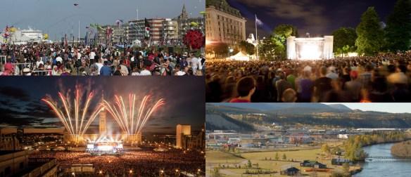 Des fêtes interconnectées à Dieppe (Moncton), Québec, Ottawa, Whitehorse, Toronto et plusieurs autres villes du pays.