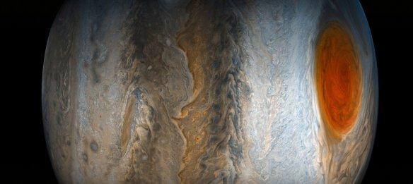 La grande tache rouge de Jupiter, le 10 juillet, dans cette image aux couleurs rehaussées par Gerald Eichstädt et Seán Doran (Photo: NASA)