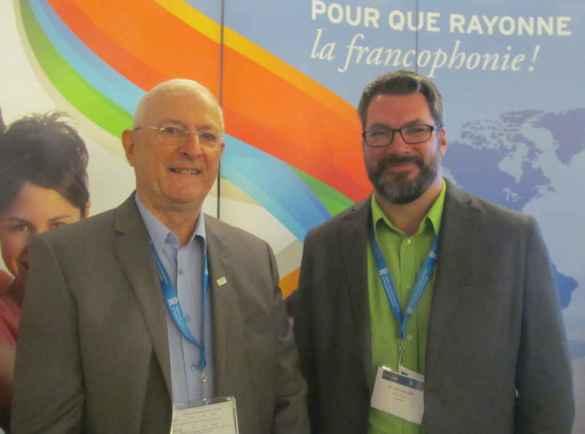 Pierre Tessier et Martin Lacelle du RDEE Ontario.