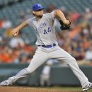 Kansas City Royals pitcher Luke Hochevar delivers against the Baltimore Orioles in the third inning of a baseball game, Friday, Aug. 10, 2012, in Baltimore. (AP Photo/Gail Burton)