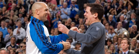 Dallas Mavericks owner Mark Cuban says he refuses to retire Jason Kidd's jersey number. (Getty)
