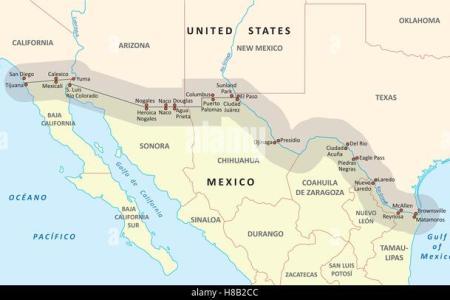 arizona mexico map stock photos & arizona mexico map stock