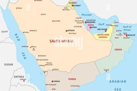 map arabian peninsula