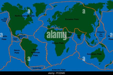 48e2f4ed5f8db98ddb1597d3b993845d plate tectonics world map with fault lines of major an minor plates fy2dm0