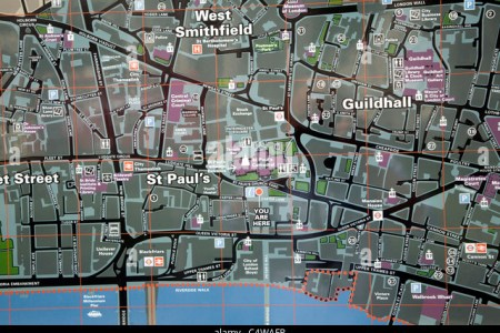city of london tourist street map central london c4wafp