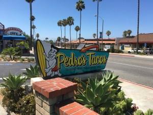 Enjoying Pedro's Tacos in San Clemente