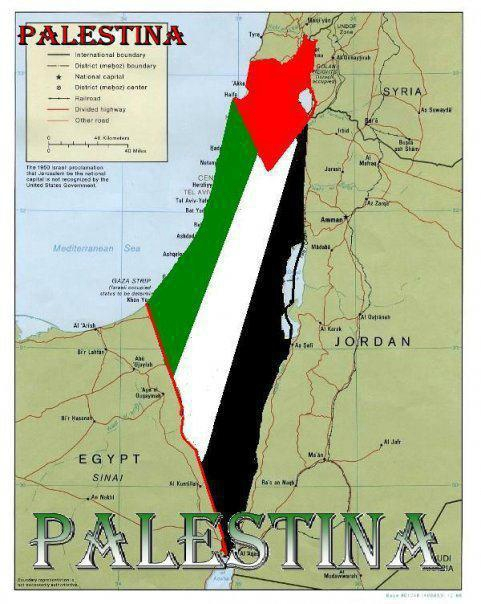 carte de Palestine