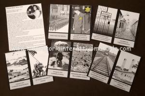 Card fotografiche e scgeda biografica di Anne Frank