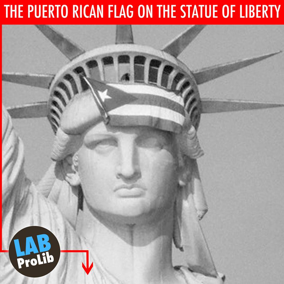 Symbolism the puerto rican flag on the statue of liberty labprolib this is an actual photo taken on october 25 1977 when a group of unarmed puerto rican activists gathered to biocorpaavc Image collections