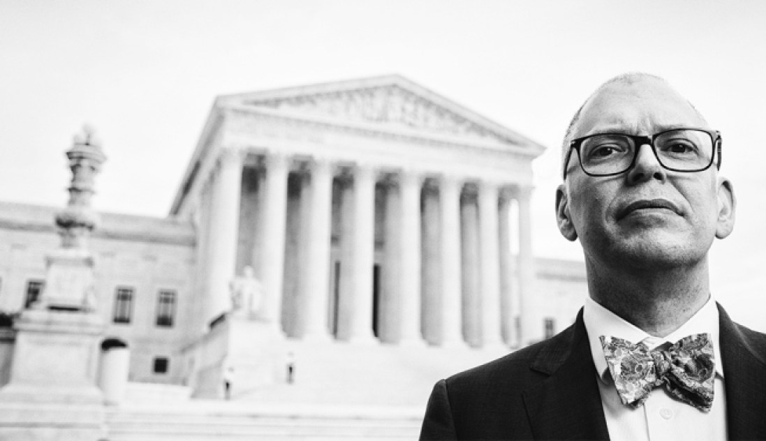 Jim Obergefell is photographed in front of the U.S. Supreme Court in Washington, D.C. on Monday, June 15, 2015.