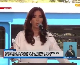 CFK inaugura trenes con frenos