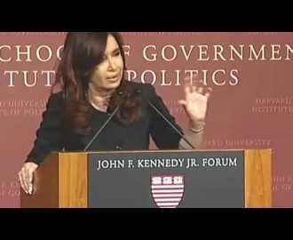 La exitosa abogada CFK en Harvard