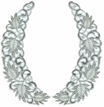 Silver Metallic Collar Set - 7 3/4