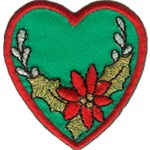 1 7/8'' - 4.8 cm  Iron On Heart Applique1 7/8'' - 4.8 cm  Iron On Heart Applique