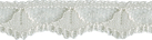1/2'' Cream Lace Trim1/2'' Cream Lace Trim