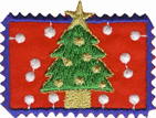 2'' by 1 3/8'' Iron On Christmas Tree Patch Applique2'' by 1 3/8'' Iron On Christmas Tree Patch Applique