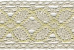 2'' Natural/Yellow Cotton Cluny Lace2'' Natural/Yellow Cotton Cluny Lace