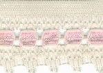 2 1/8'' Cream/Pink Lace Trim2 1/8'' Cream/Pink Lace Trim