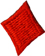 5/8'' by 3/4'' Red Diamond Applique5/8'' by 3/4'' Red Diamond Applique