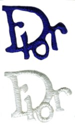 5/8'' by 5/8'' Iron On Applique - White, Royal Blue5/8'' by 5/8'' Iron On Applique - White, Royal Blue