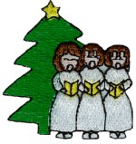 1 7/8'' by 2'' Christmas Carolers Applique1 7/8'' by 2'' Christmas Carolers Applique