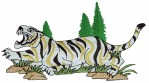 6 3/8'' by 3 1/2'' Iron On Tiger Applique6 3/8'' by 3 1/2'' Iron On Tiger Applique
