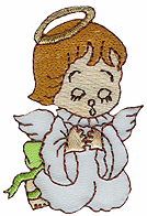 1 7/8'' by 2 5/8'' Iron On Praying Angel Applique1 7/8'' by 2 5/8'' Iron On Praying Angel Applique