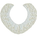 11 1/4'' by 9 1/2'' Netting Lace Collars - Ivory, White11 1/4'' by 9 1/2'' Netting Lace Collars - Ivory, White