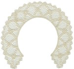 10'' by 9 1/4'' Collar - Cream10'' by 9 1/4'' Collar - Cream