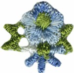 11/16'' Blue Flower Applique11/16'' Blue Flower Applique