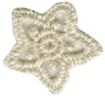 3/4'' - 19mm - Natural Flower Applique3/4'' - 19mm - Natural Flower Applique