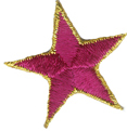 1 3/4'' - 4.5cm Iron On Star with Gold Edge - 11 Colors1 3/4'' - 4.5cm Iron On Star with Gold Edge - 11 Colors