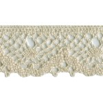 1 3/8'' Cotton Lace Trim - Cream, White1 3/8'' Cotton Lace Trim - Cream, White