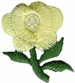 11/16'' by 7/8'' Iron On Yellow Flower Applique11/16'' by 7/8'' Iron On Yellow Flower Applique
