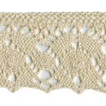 2 7/16'' Cotton Cluny Lace - Natural, White2 7/16'' Cotton Cluny Lace - Natural, White