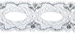 1 1/2'' White/Silver Beading Lace Trim1 1/2'' White/Silver Beading Lace Trim