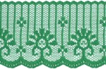 1 7/8'' Christmas Green Lace Trim1 7/8'' Christmas Green Lace Trim