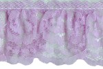 2'' Lavender Gathered Lace Trim2'' Lavender Gathered Lace Trim