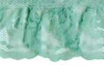 2'' Mint Gathered Lace Trim2'' Mint Gathered Lace Trim