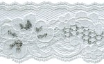 2'' White/Silver Lace Trim2'' White/Silver Lace Trim