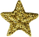 5/8'' Metallic Gold Set of 2 Iron On Stars Applique.5/8'' Metallic Gold Set of 2 Iron On Stars Applique.